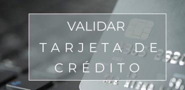 Validar tarjeta de crédito